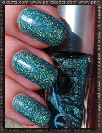 Depend Ocean Green (2036) holographic nail polish - sun