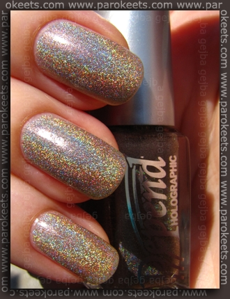 Depend Sand Grey (2026) holographic nail polish - sun
