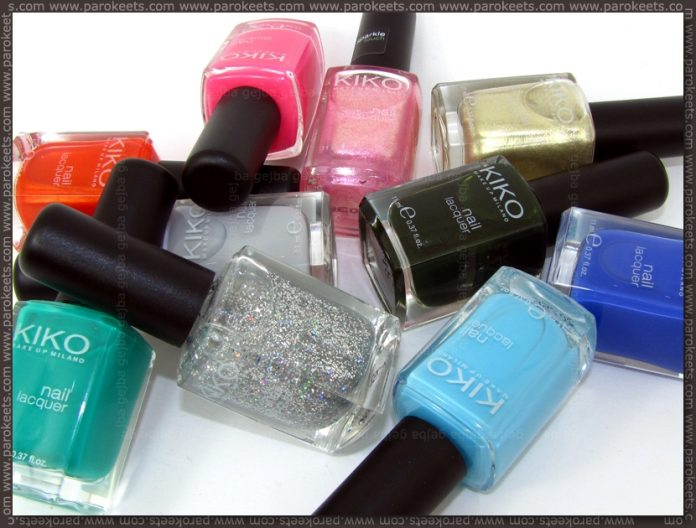 Kiko July 2012 nail polish haul