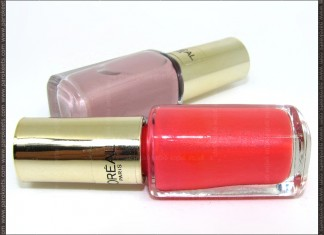 L'Oreal Color Riche: Dating Coral and Rose Bagatelle nail polish