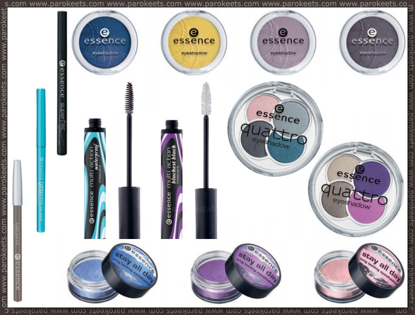 New Essence products for fall 2012 eyeshadow, eyeliner, mascara