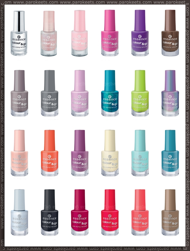 Essence going away products - fall 2012 - Colour&Go nail polishes