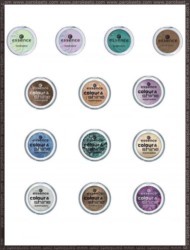 Essence going away products - fall 2012 - eyeshadows