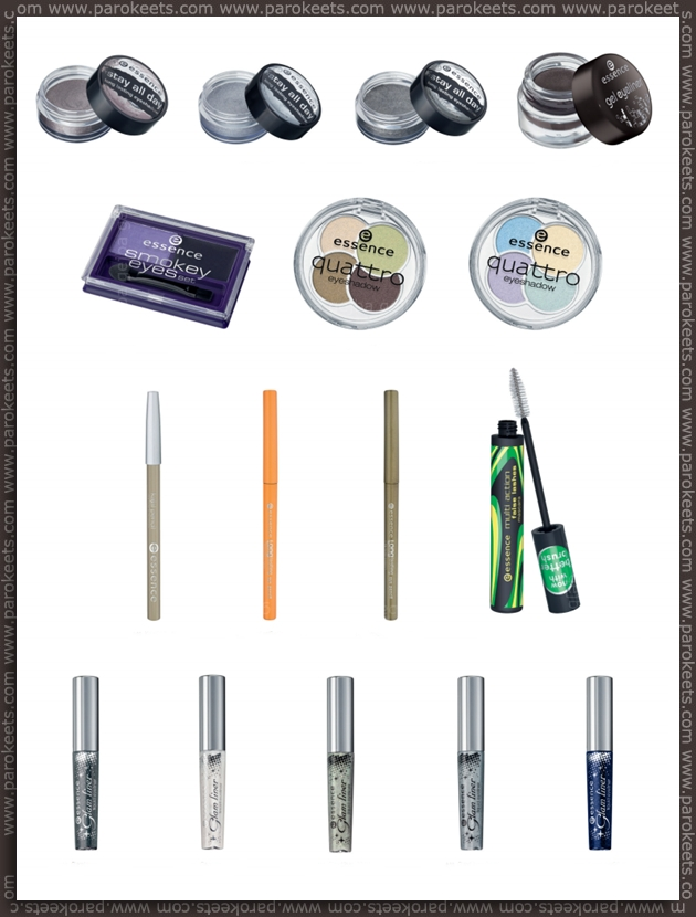 Essence going away products - fall 2012 - eyeshadows, eyeliners