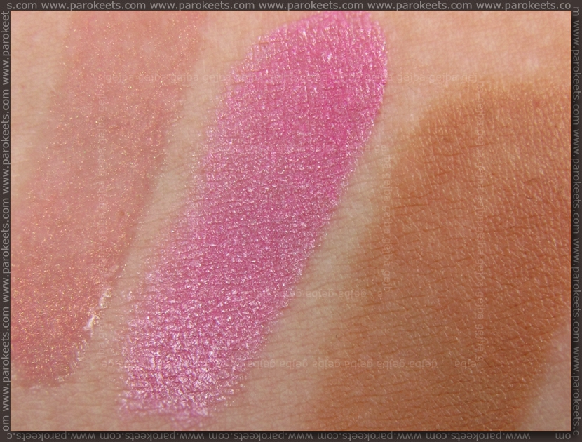 IsaDora SPF: Pearly Pink lipgloss, Cool Pink lipstick, Brown (53) Compact foundation