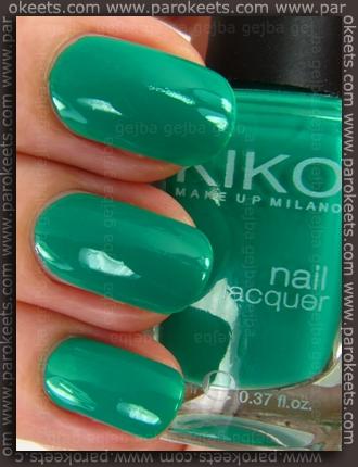 Kiko Verde Primavera 343 nail polish