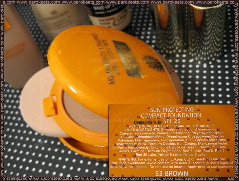 Maestrini poletni favoriti (julij2012): IsaDora Sun Protecting Compact Foundation SPF 25