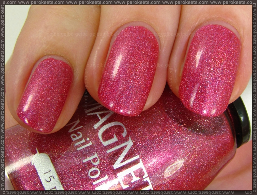 Magnetic Radiant Red holographic nail polish