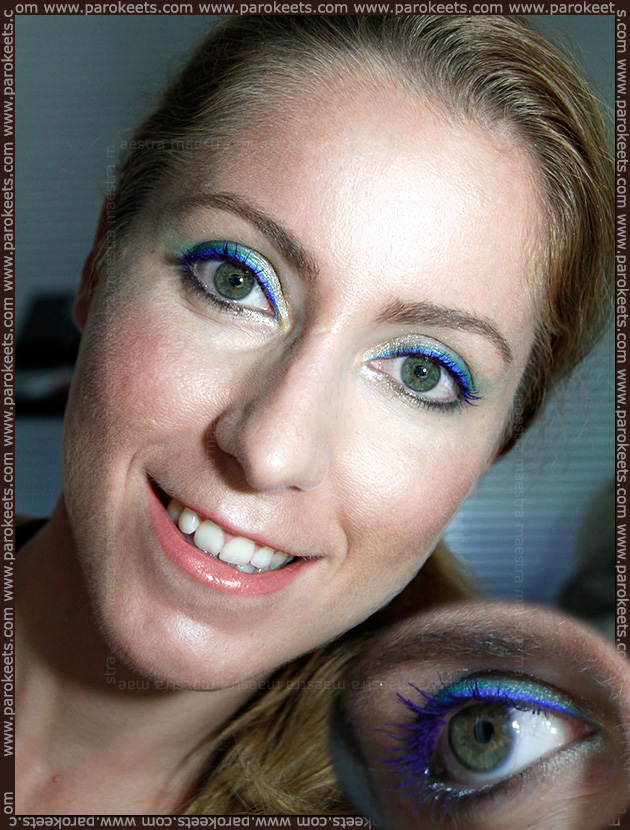 Kiko purple mascara and Collistar Eye Liner in 16 Pavone MakeUp Look by Maestra