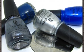 China Glaze: First Mate, Frostbite, Millennium, Awaken + H22 image plate