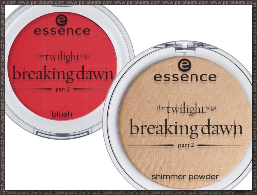 Essence Twilight Breaking Dawn TE: blush, powder (preview)