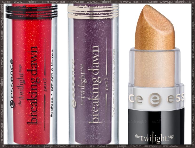 Essence Twilight Breaking Dawn TE: lipstick, lipglosses (preview)
