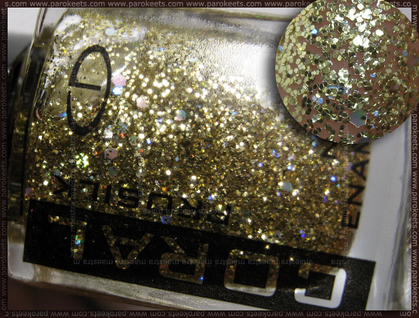 Swatch: Eveline Coral Prosilk nail enamel - Las Vegas - 504