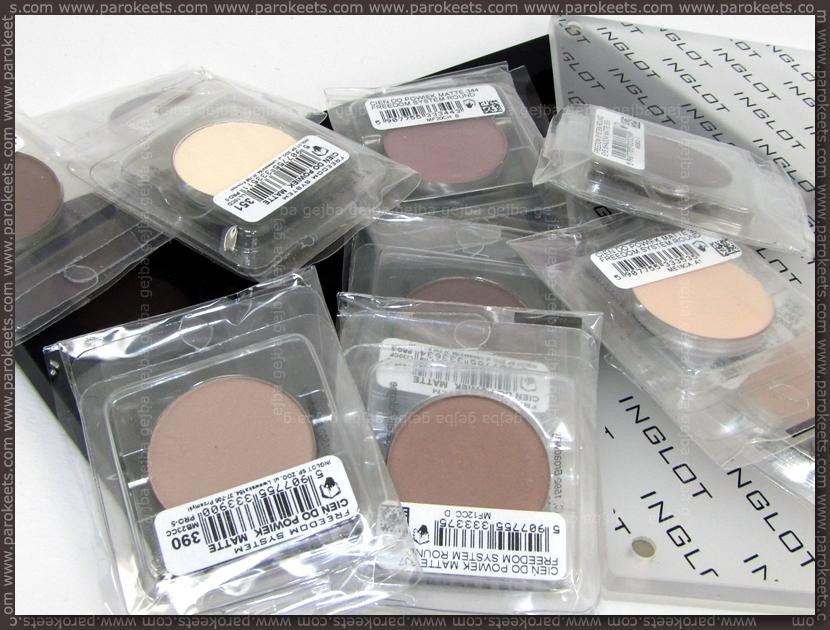 Inglot matte eyeshadow palette
