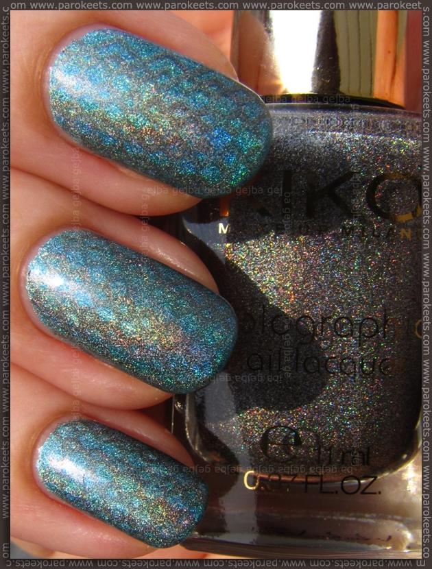 Kiko Lavish Oriental nail polish 401 + 400 + BM 202 image plate stamping