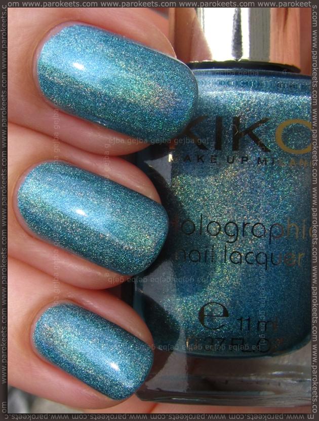 Kiko Lavish Oriental nail polish 401 - Peacock Green