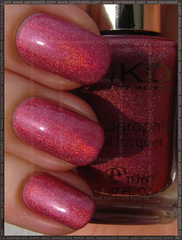 Kiko Lavish Oriental nail polish 402 - Jewel Pink