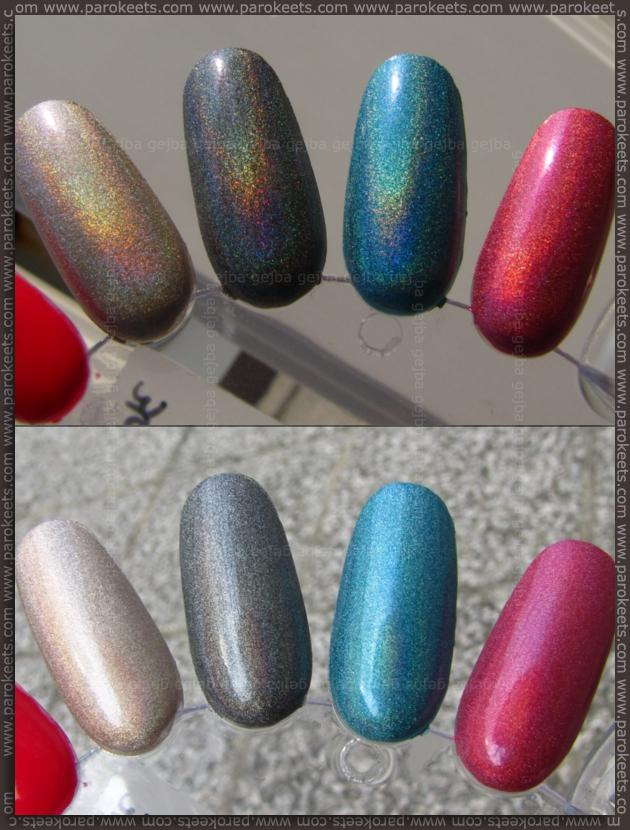 Kiko Lavish Oriental holographic nail polishes