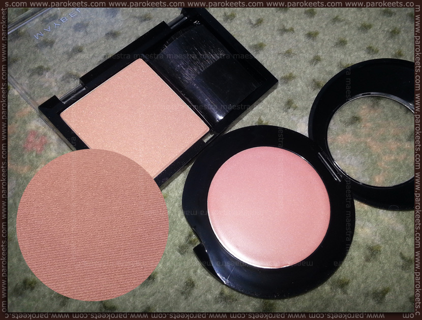 Maybelline - Expert Wear blush in 75 Warm Copper, Astor - Cream blush in 002 Sand Rose