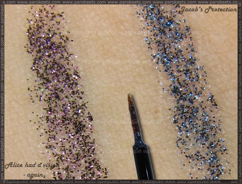Essence Breaking Dawn liquid eyeliners swatch