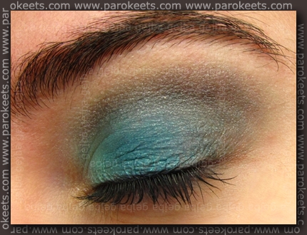 Collistar makeup: Laguna, Turchese Satin, Alchemy quad
