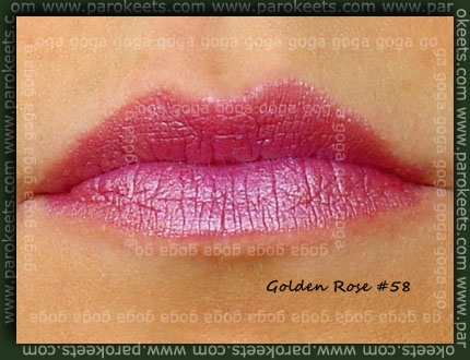 Golden Rose lipstick no. 58 swatch