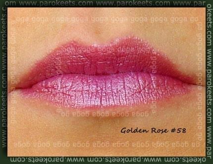 Golden Rose lipstick no. 58 swatch