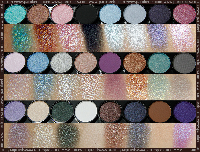 Swatch: MUA - Immaculate Collection make up palette
