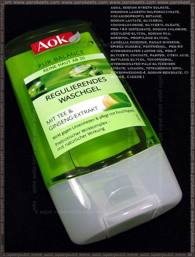AOK Pur Balance Regulierendes Washgel INCI