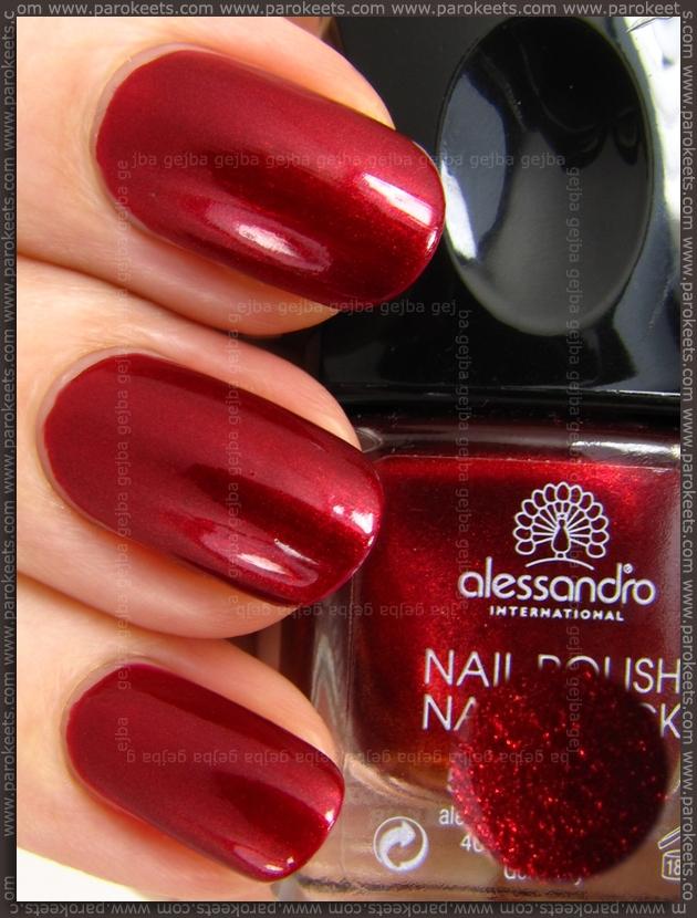 Alessandro Catch Me LE Red Treasure nail polish