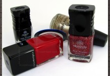Christmas tree manicure nail polishes used