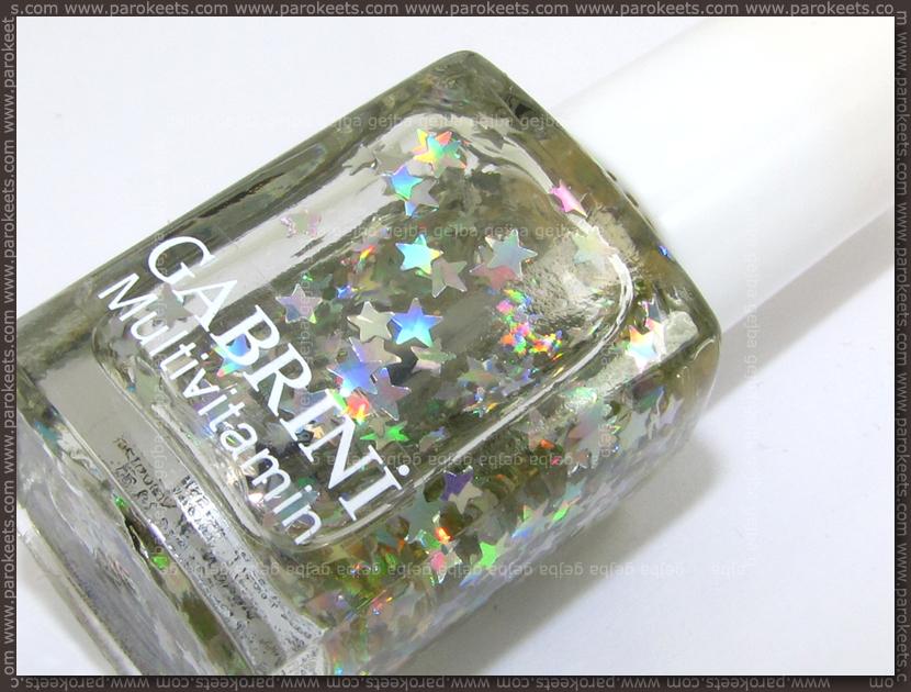 Gabrini 401 holo star glitter nail polish