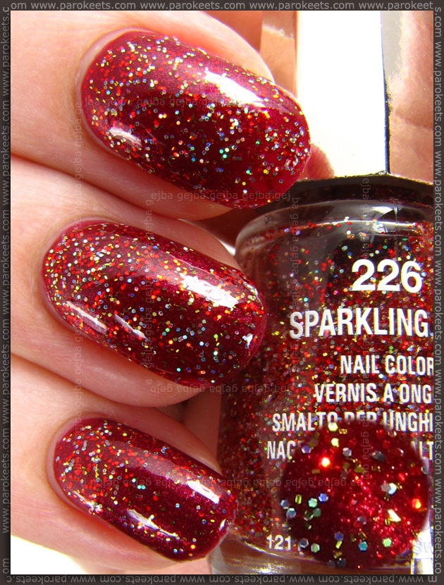 Mavala Sparkling Red layered over Kiko 242