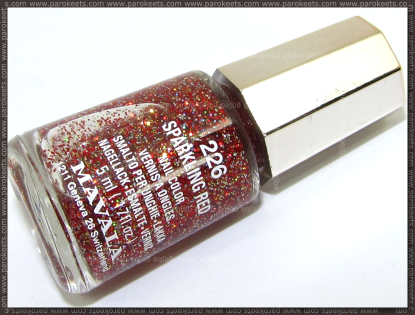 Mavala Sparkling Red nail polish