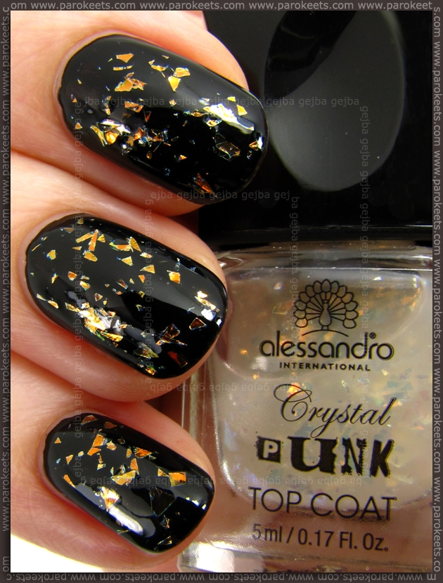 Alessandro Crystal Punk - Freaky Orange swatch (Go Magic!)