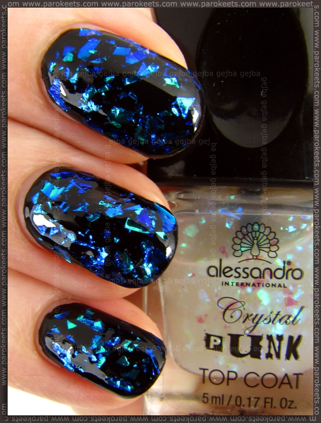 Alessandro Crystal Punk - Toxic Turquoise swatch (Go Magic!)