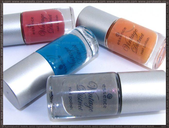 Essence Vintage District LE nail polishes