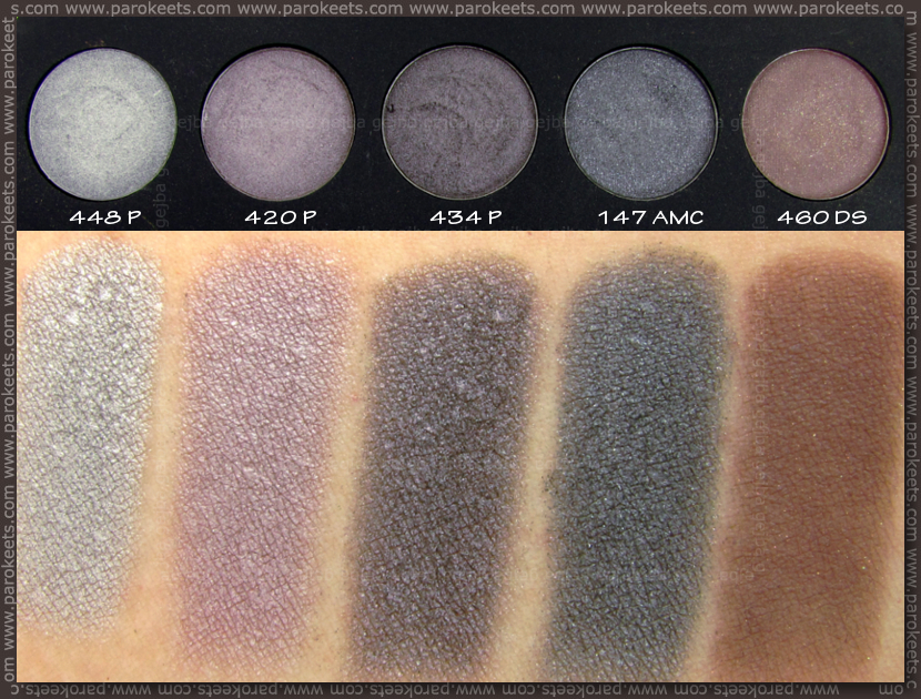 Inglot Freedom System: 448P, 420P, 434P, 147 AMC shine, 460DS