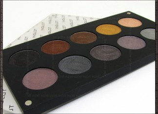 Inglot Freedom System eyeshadow palette: warm vs. cool
