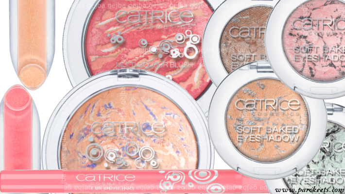 Catrice Candy Shock eyeshadows, highlighter, blush, lip products (preview)