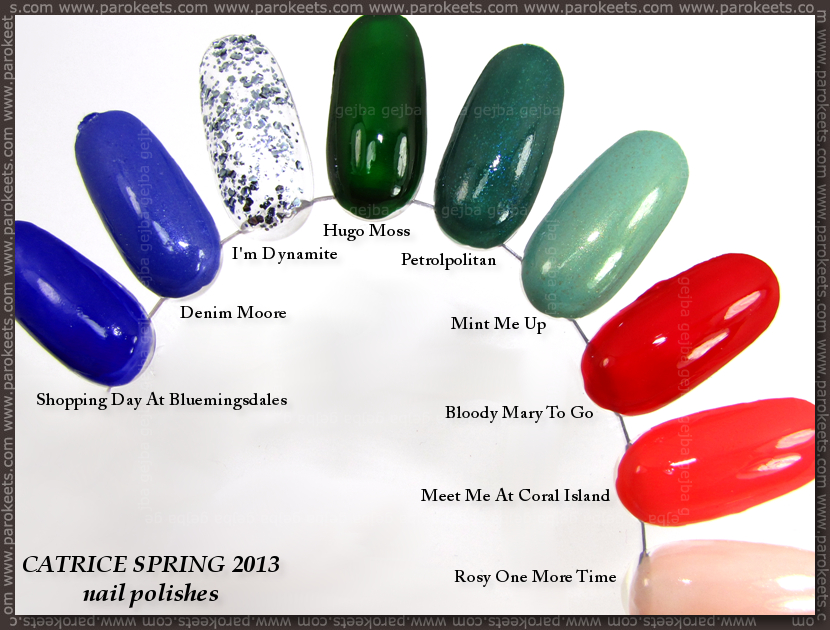 Catrice spring 2013 nail polish swatch