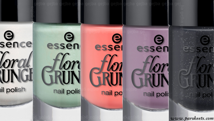 Essence Floral Grunge nail polishes (preview)
