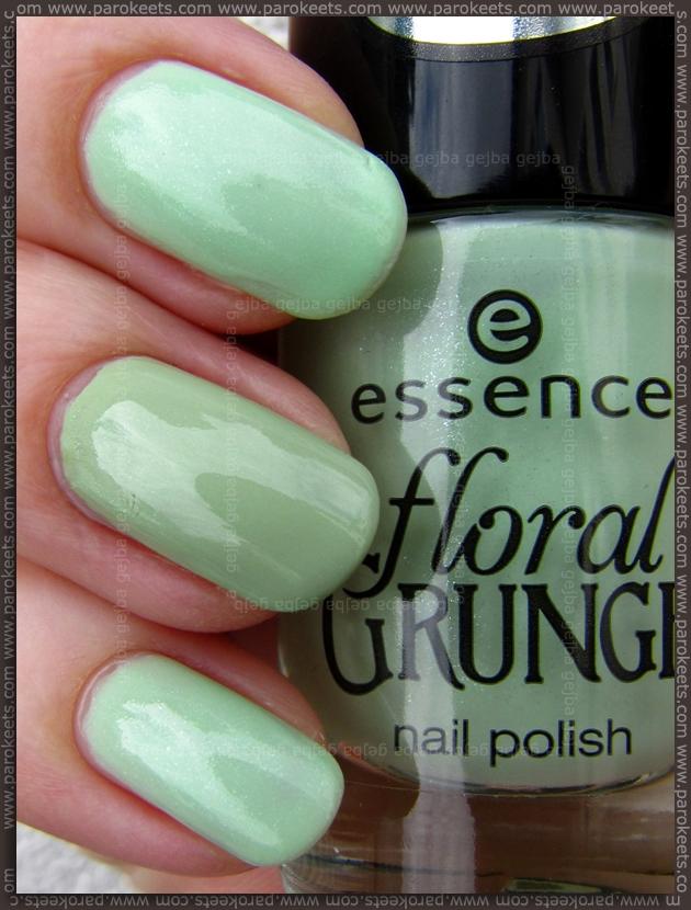 Essence Floral Grunge LE Grunge Me Tender vs. A Hint Of Mint comparison