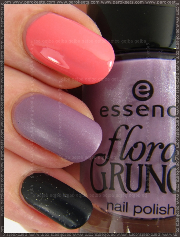 Essence Floral Grunge LE - Be Flowerful, Madly Purpled, Black From The Root