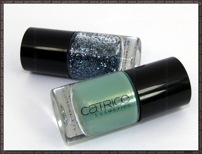 Catrice Mint Me Up and I'm Dynamite nail polishes
