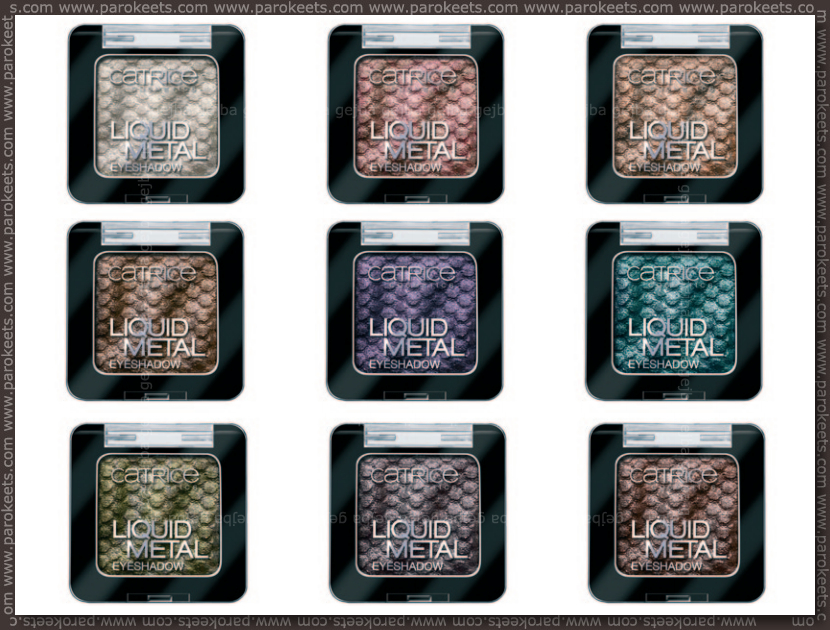 Catrice new for fall 2013 - Liquid Metal eyeshadows