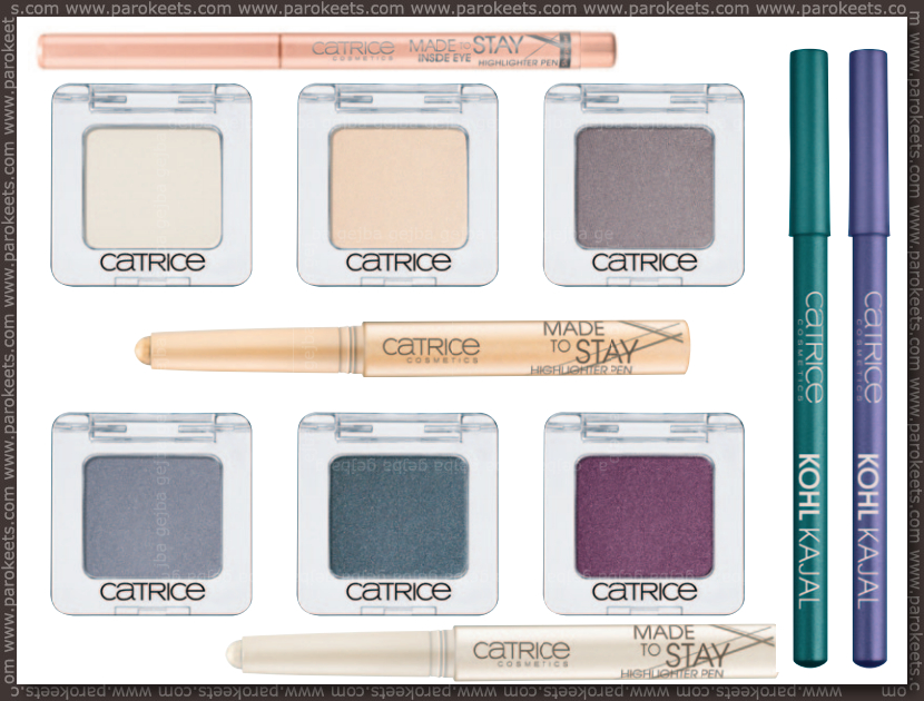 Catrice new for fall 2013 - mono eyeshadows, highlighters, khol