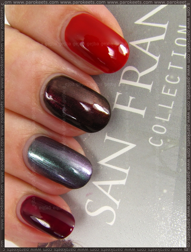 OPI San Francisco mini set swatches