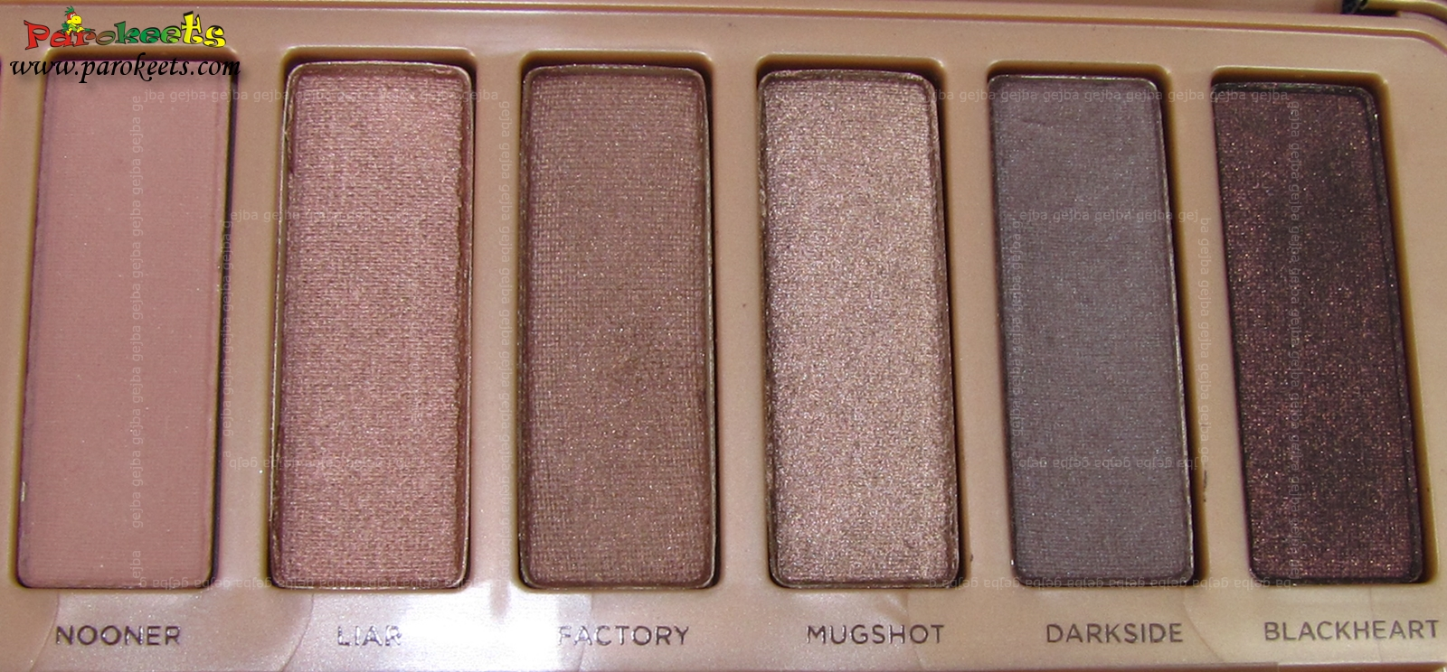Urban Decay Naked 3 palette Nooner, Liar, Factory, Mugshot, Darkside, Blackheart