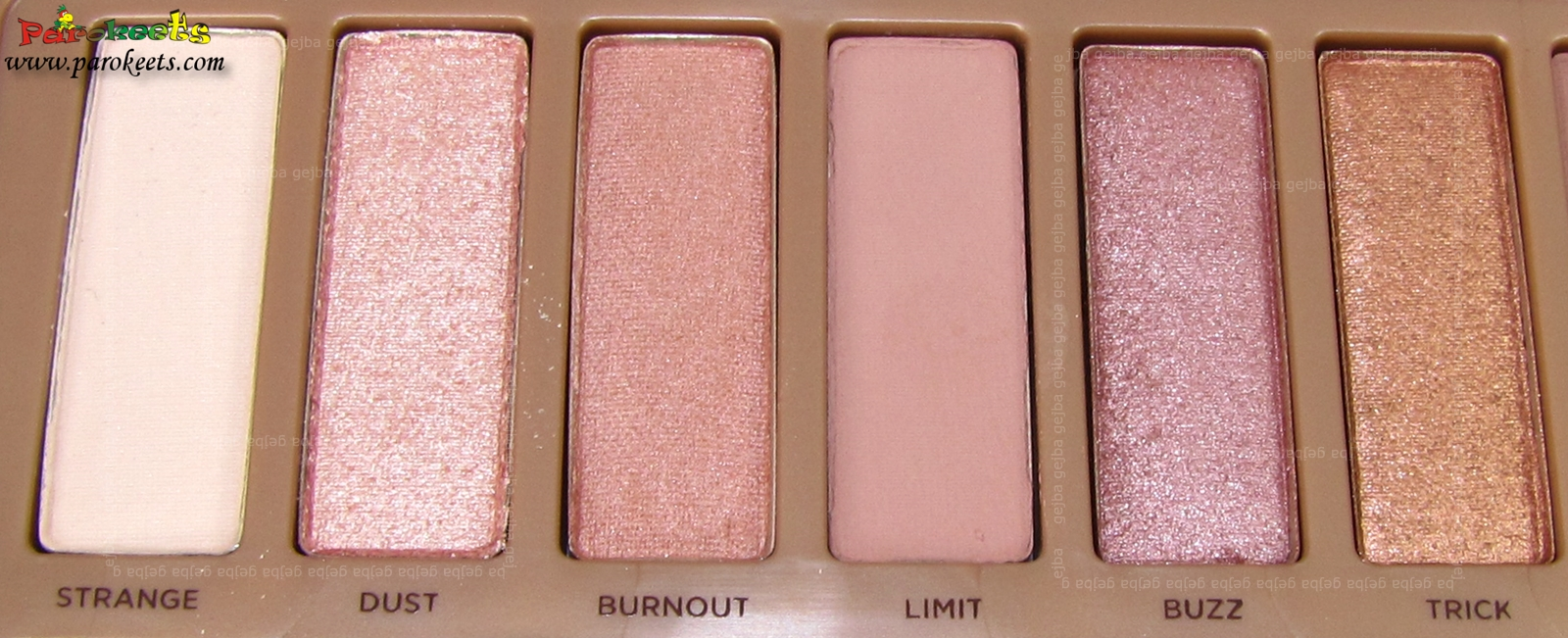 Urban Decay Naked 3 palette Strange, Dust, Burnout, Limit, Buzz, Trick